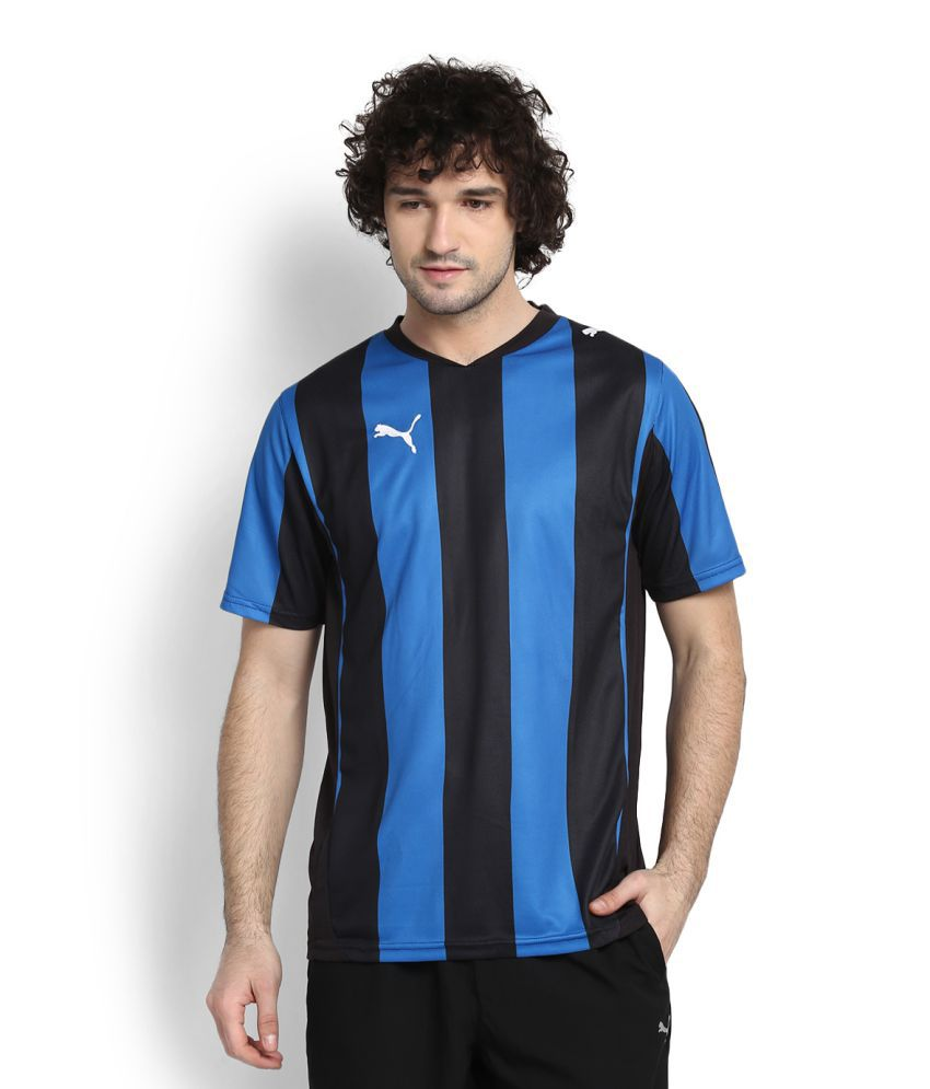 Puma Black V-Neck T-Shirt