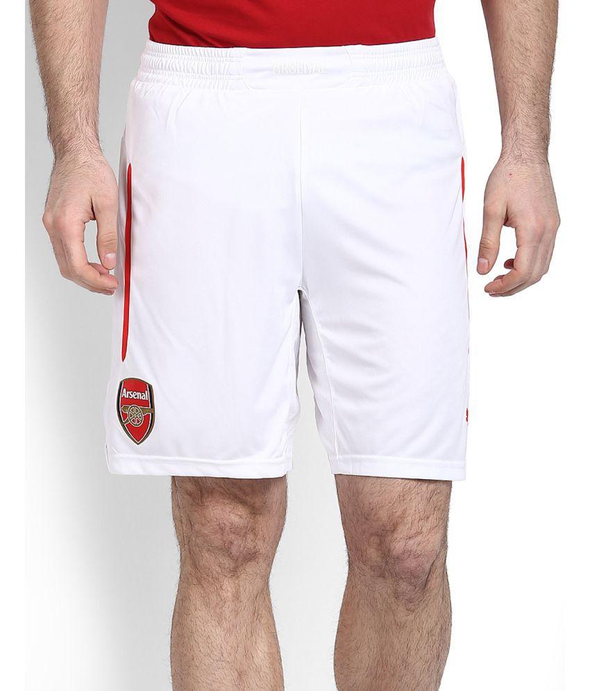 Puma White Polyester Shorts