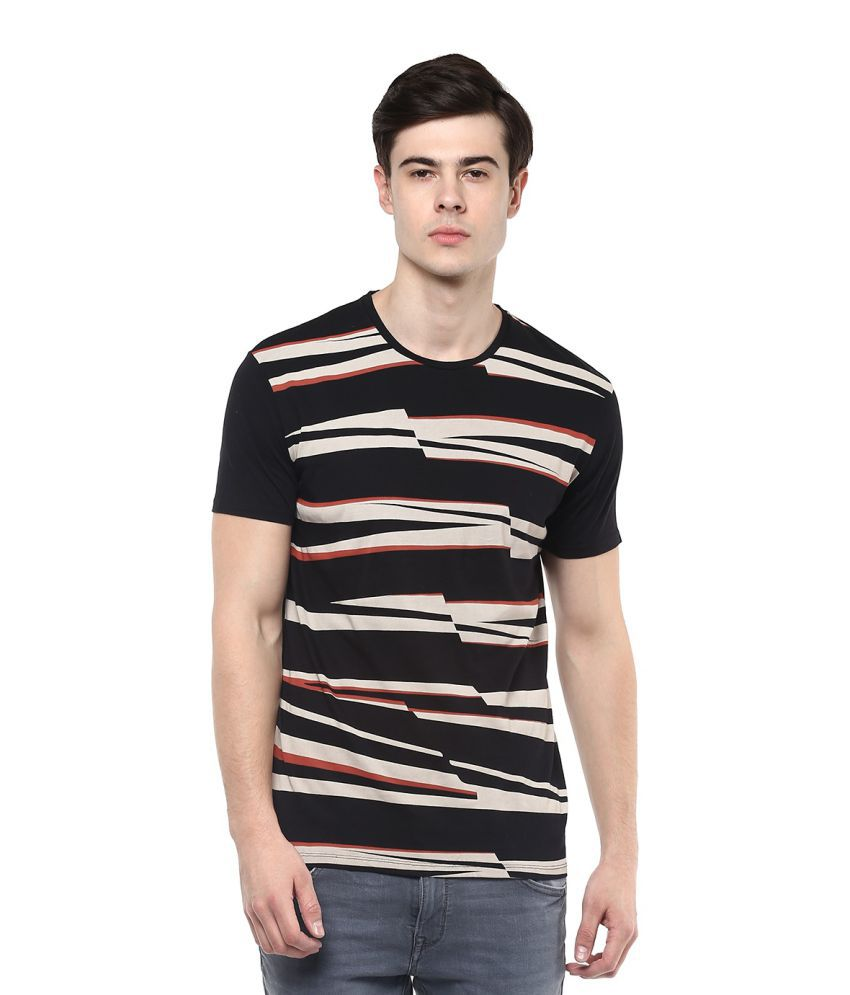 United Colors of Benetton Black Round T-Shirt