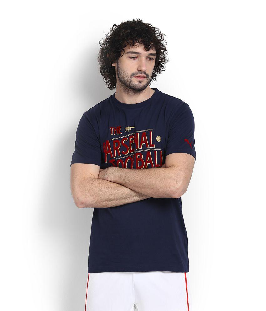 Puma Black Cotton T Shirt