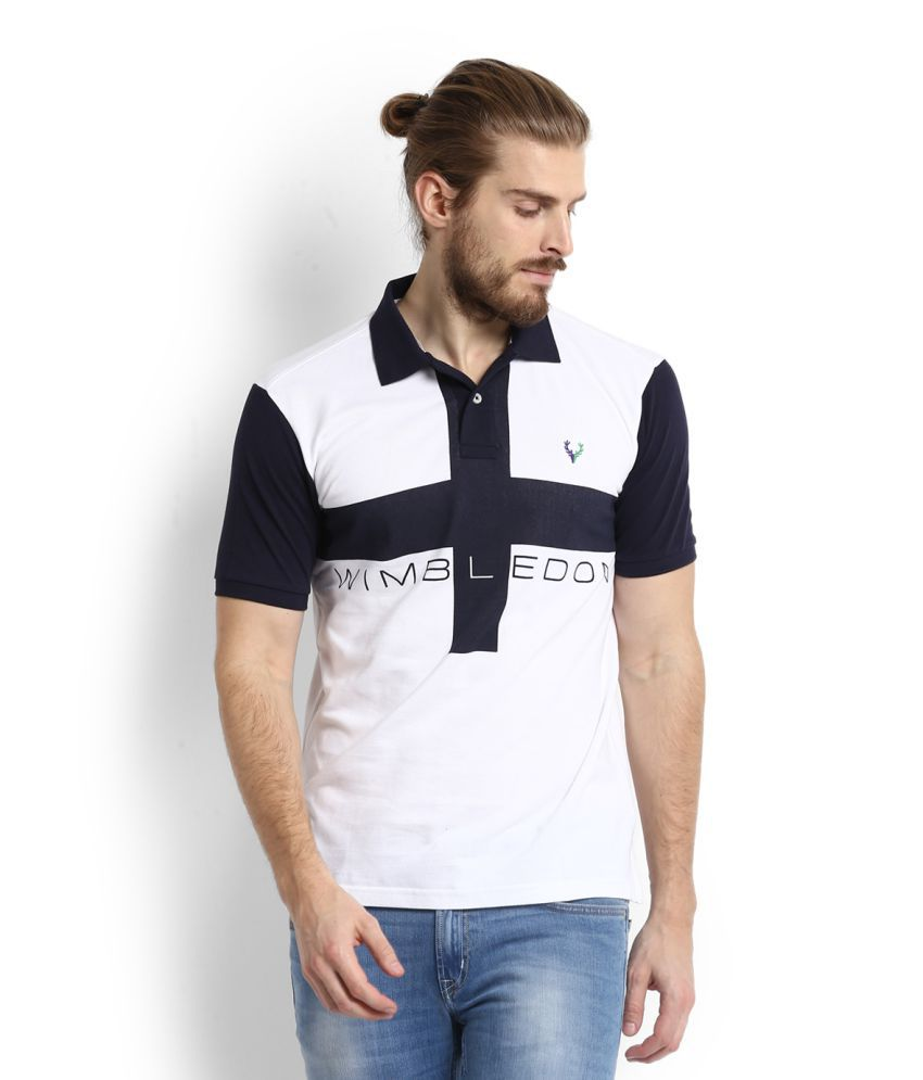 Allen Solly White Polo T-Shirt