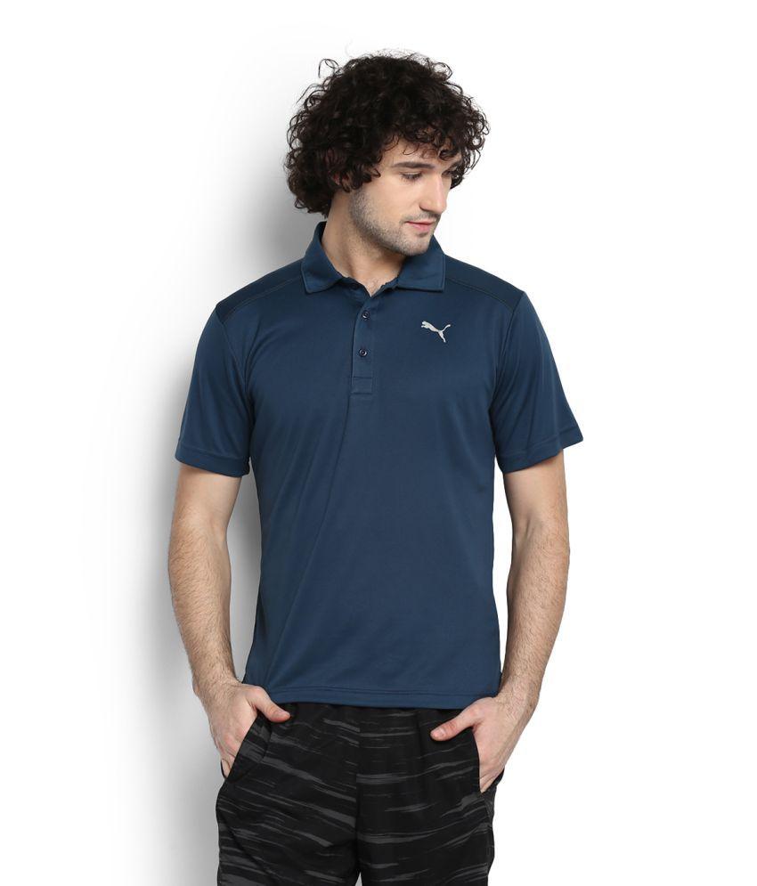 Puma Blue High Neck T-Shirt