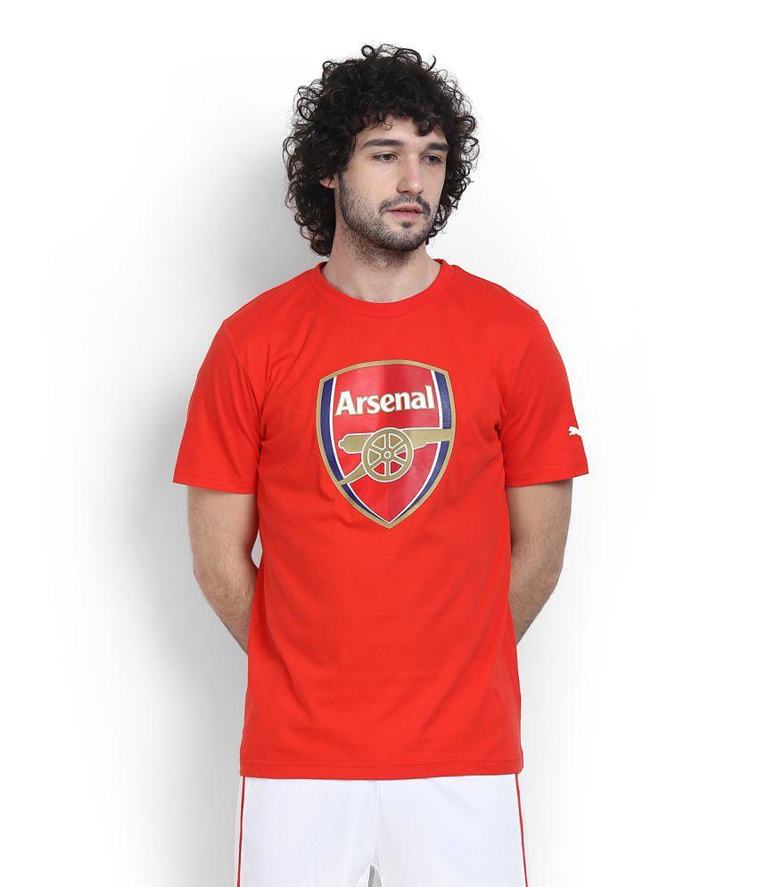 Puma Red Cotton T Shirt