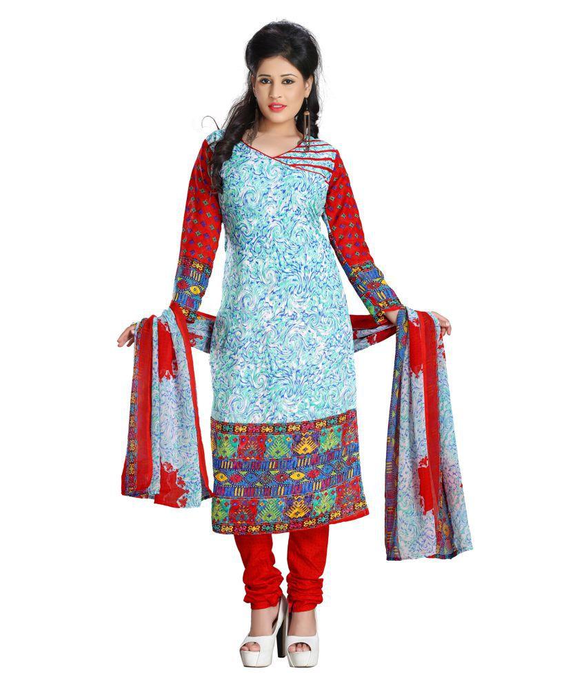 Latest Fancy Designer Multicoloured Cotton Dress Material