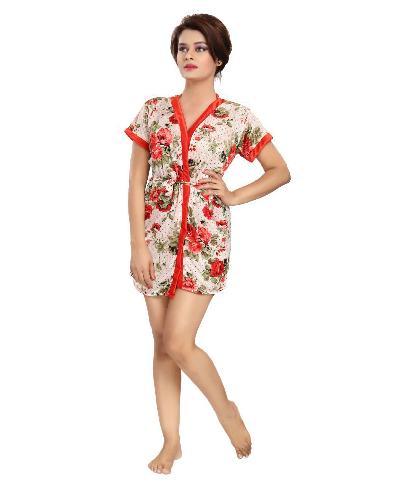 Buy Khushfashions Multi Satin Nighty   Night Gowns Online at Best ... 9079a6711722