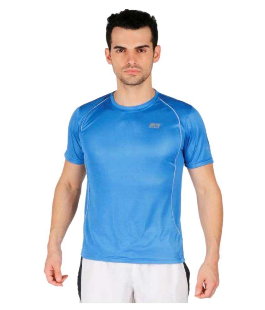 Vector X VTD-025-B Printed Men's Round Neck Blue T-Shirt