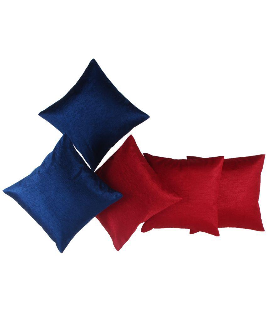 JBK Arts Set of 5 Satin Cushion Covers 30X30 cm (12X12)