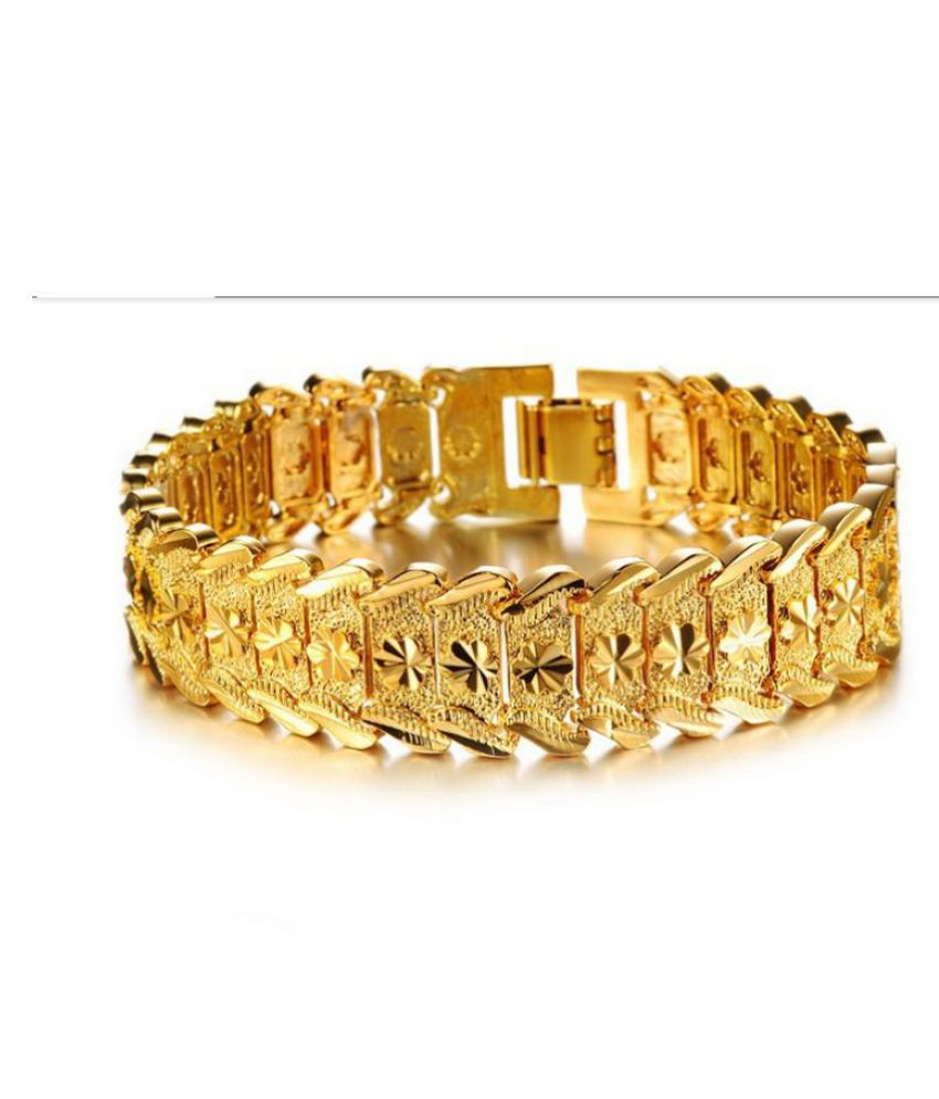 08be97759d0 Magic Stones Gold Bracelets Mens Jewellery: Buy Magic Stones Gold Bracelets  Mens Jewellery Online in India on Snapdeal