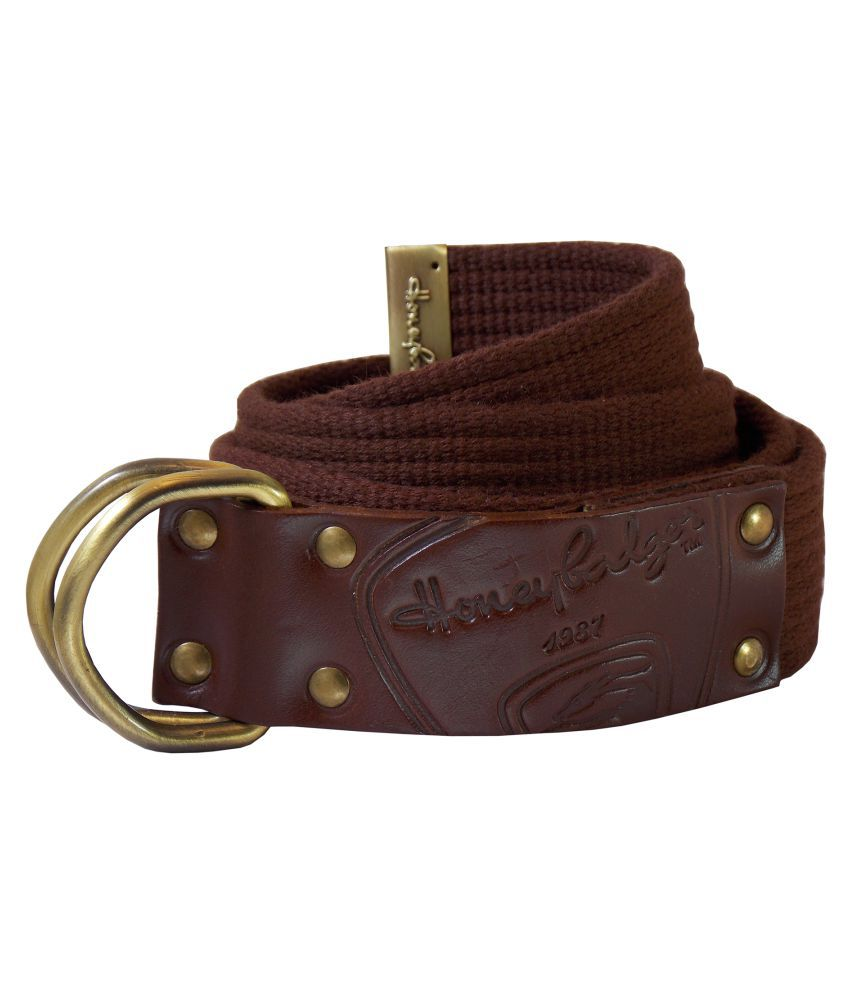 HoneyBadger Brown Canvas Casual Belts