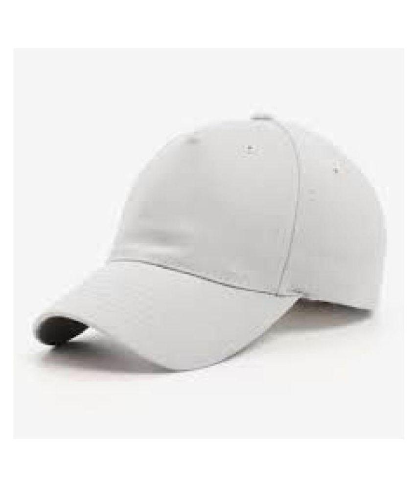f86ec42a344 Alamos White Plain Fabric Caps - Buy Online   Rs.