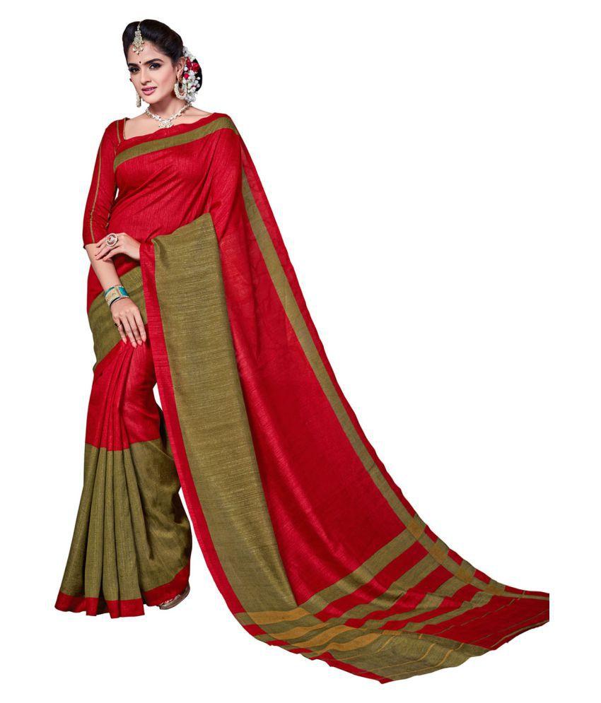 Anshika Lifestyle Multicoloured Cotton Saree