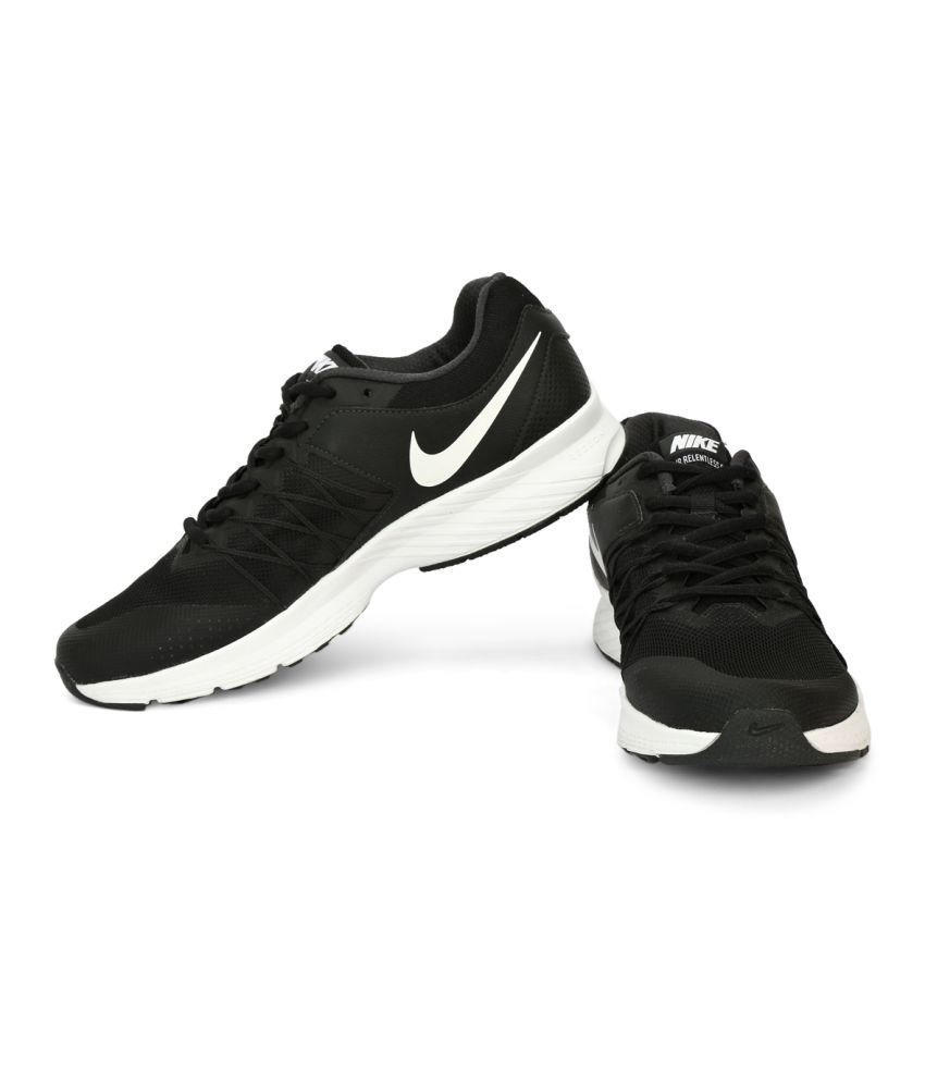 9a316af7f86 Nike NIKE AIR RELENTLESS 6 MSL Black Running Shoes - Buy Nike NIKE ...