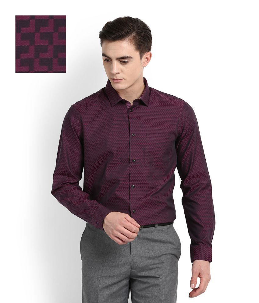 Arrow New York Purple Formal Slim Fit Shirt