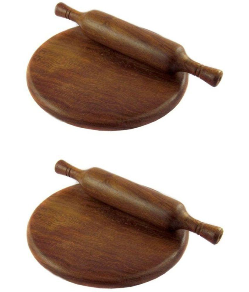 Desi Karigar Wooden Rolling Pin Combo 4 Pc