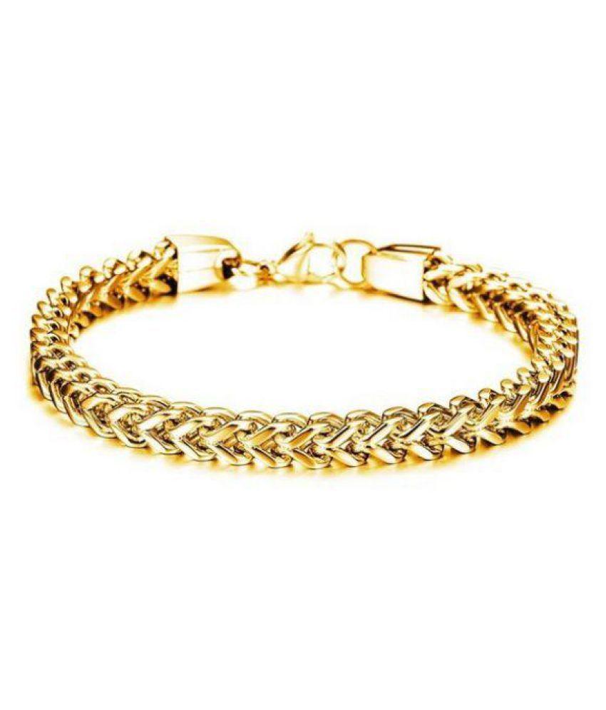 Magic Stones Gold Bracelets Mens Jewellery: Buy Magic Stones Gold ...