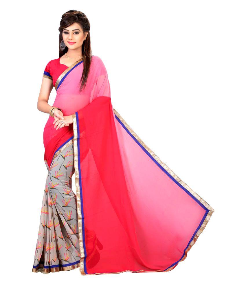Anshika Lifestyle Multicoloured Georgette Saree