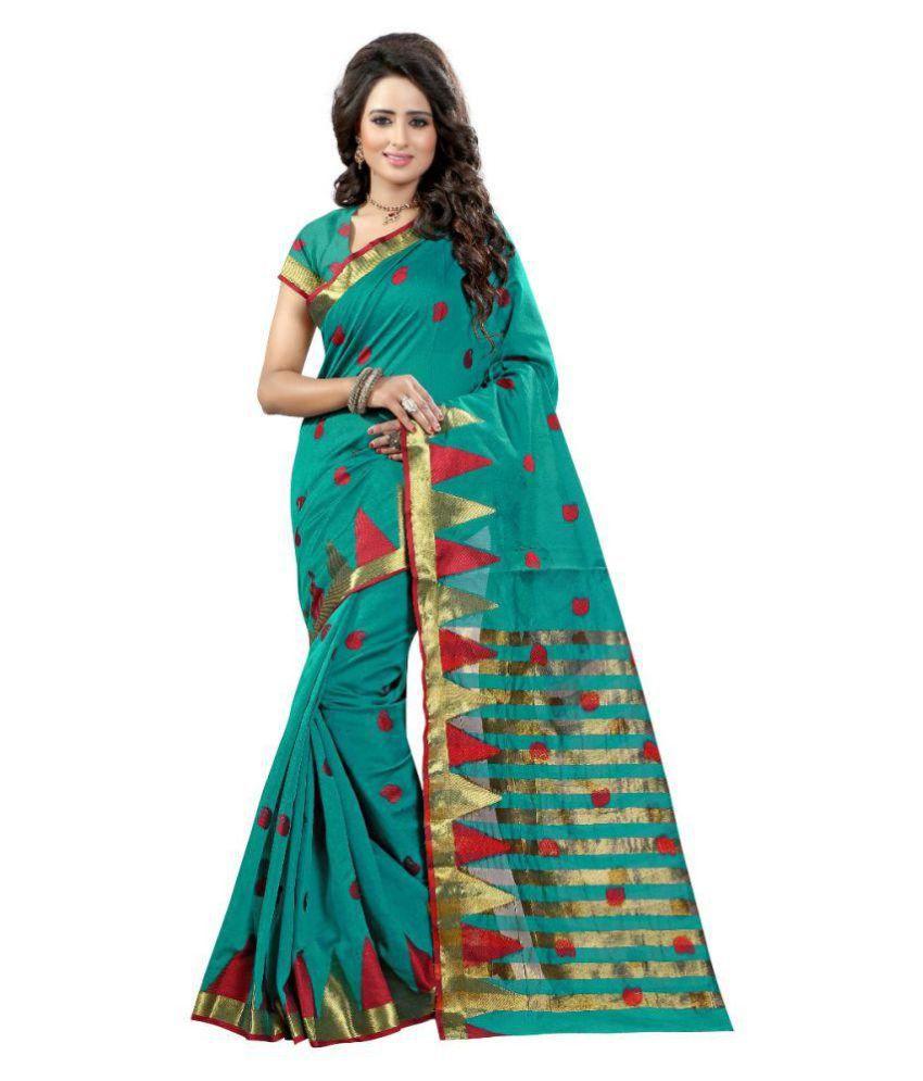 Shopaholic Enterprise Green Tussar Silk Saree
