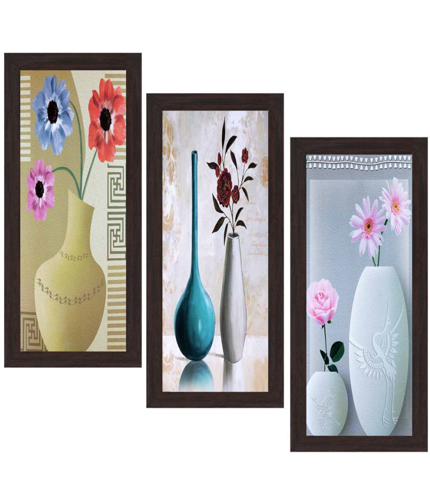 WENS MDF Painting With Frame Set of 3
