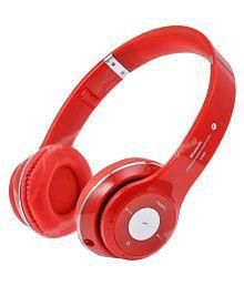 Exixa +S460 Over Ear Wireless Headphones With Mic Red