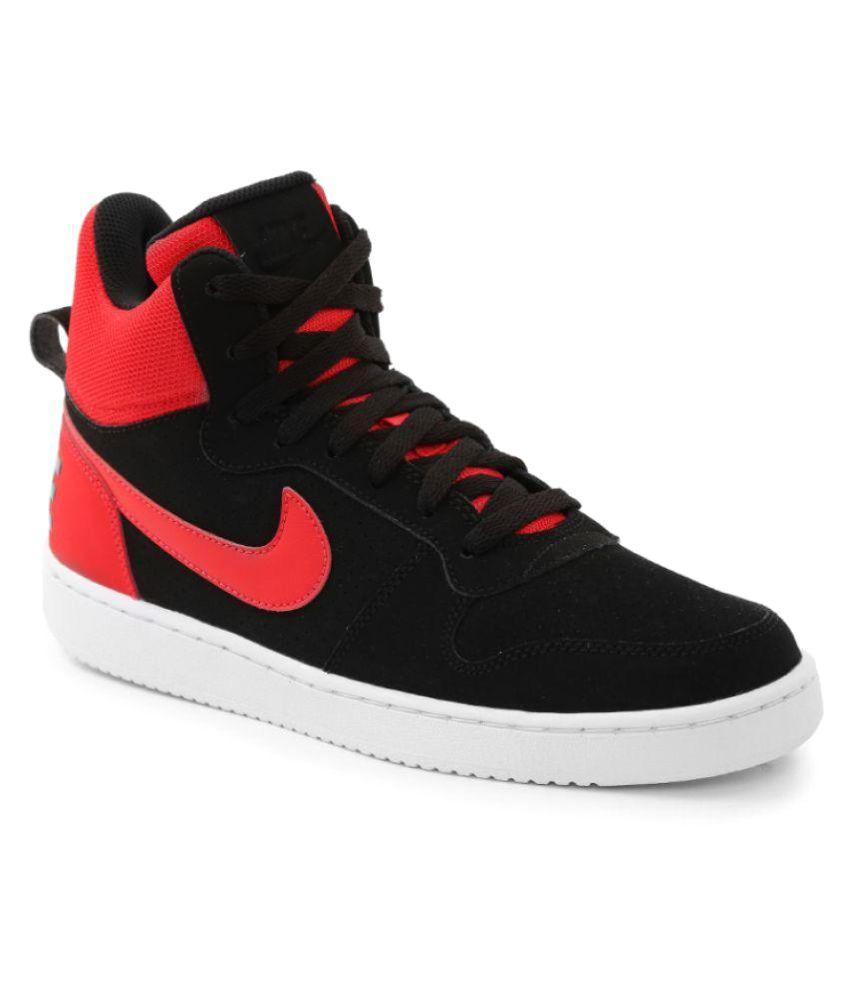 Nike Court Borough Mid Black Casual Shoes