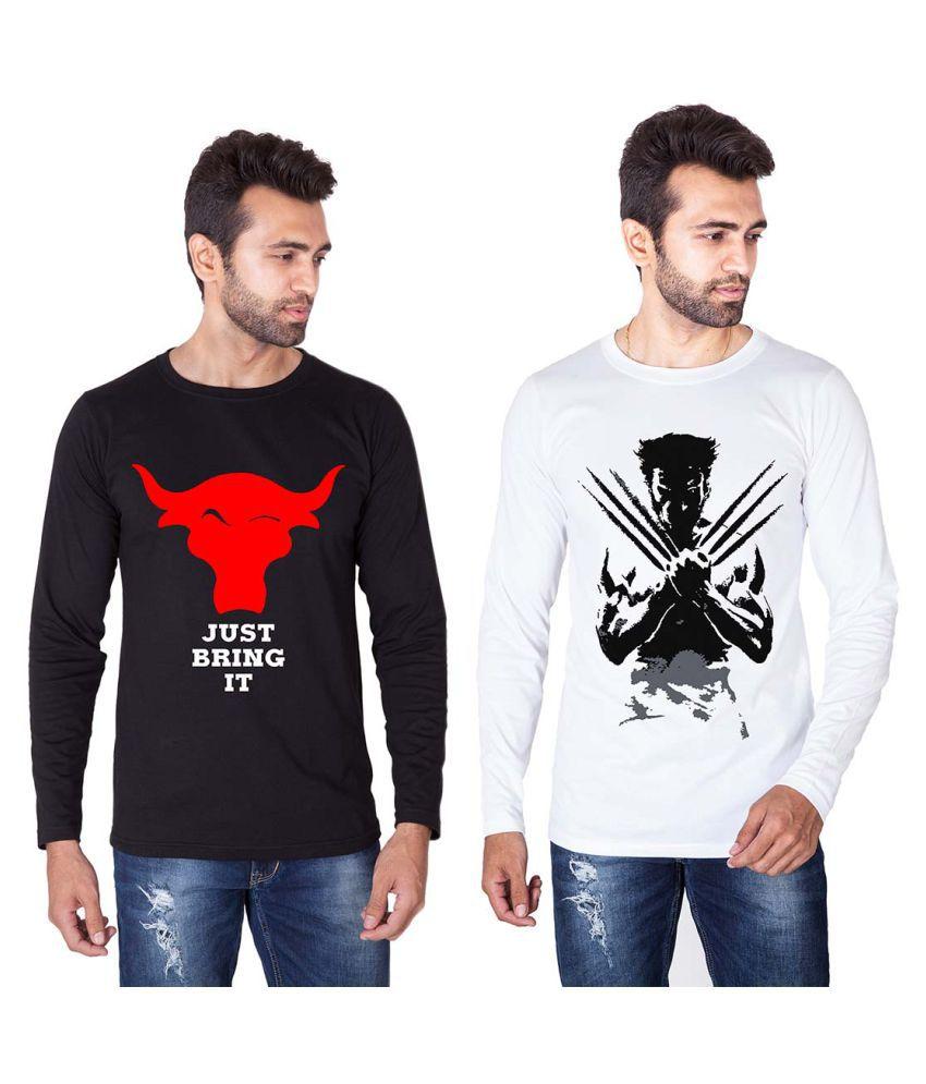 Veirdo Multi Round T-Shirt Pack of 2
