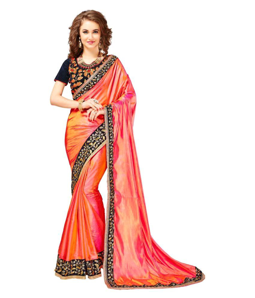 Dressy Pink Silk Saree
