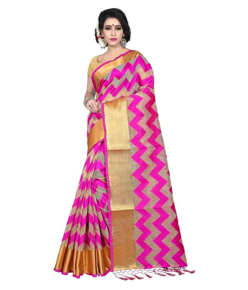 Laxmi Fashion Multicoloured Tussar Silk Saree