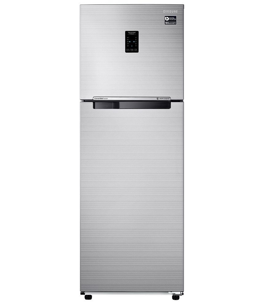 Samsung 275 Ltr 3 Star RT30K3723S8/NL Double Door Refrigerator [with Convertible Feature] - Elegant Inox