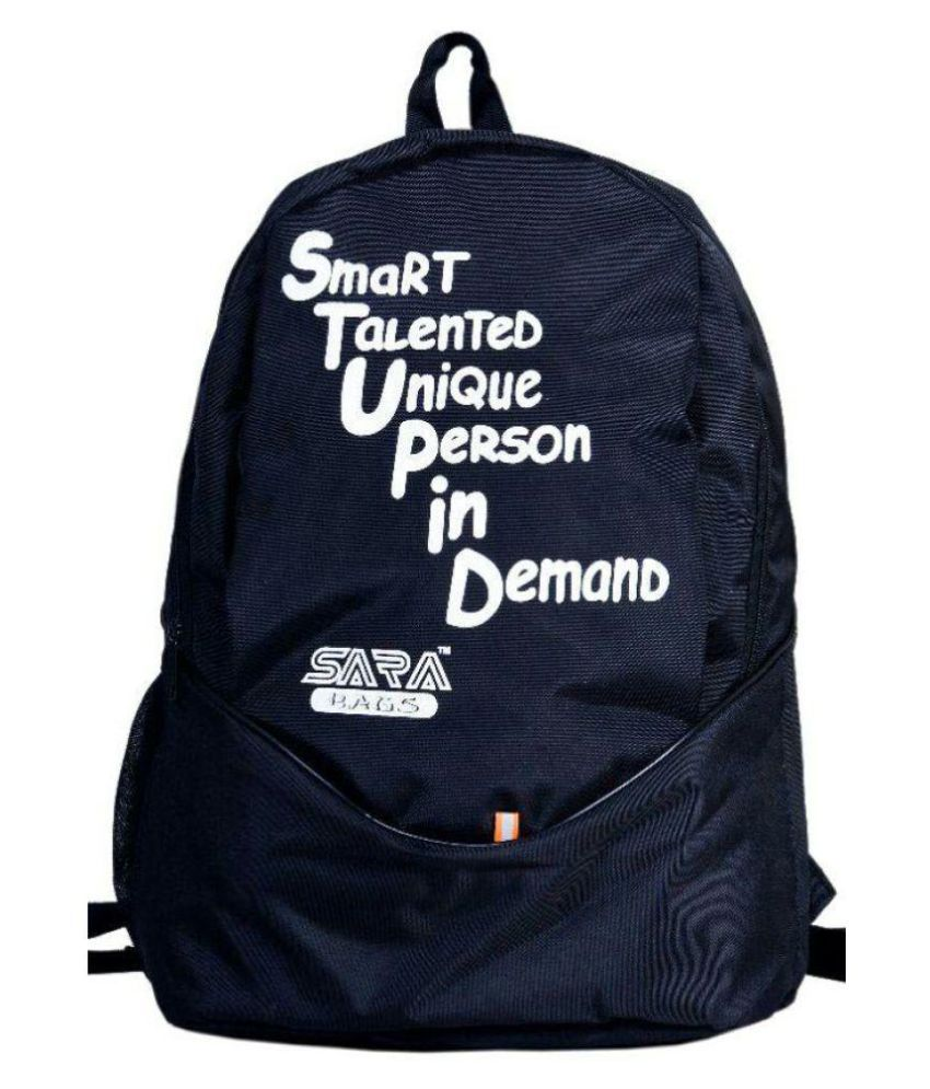 sara bags unisex black school bag buy sara bags unisex