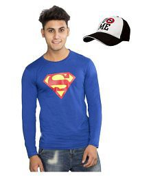 WWE Blue Round T-Shirt With Cap