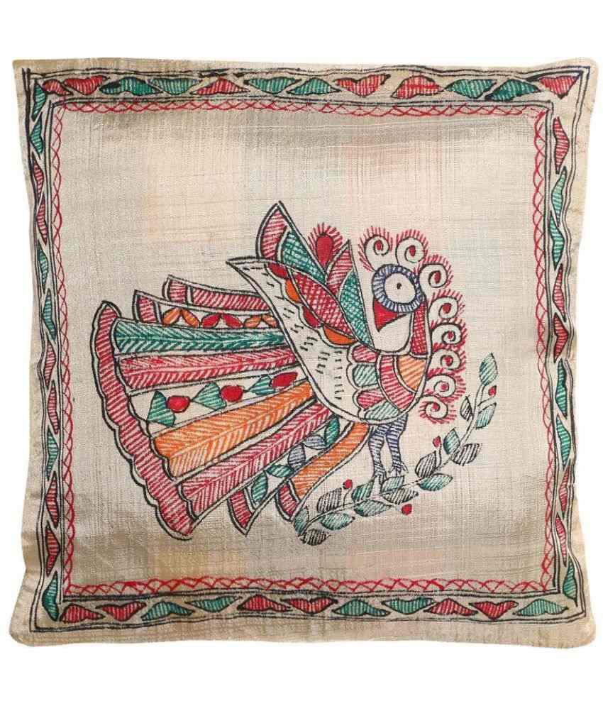iMithila Single Poly Cotton Cushion Covers 30X30 c