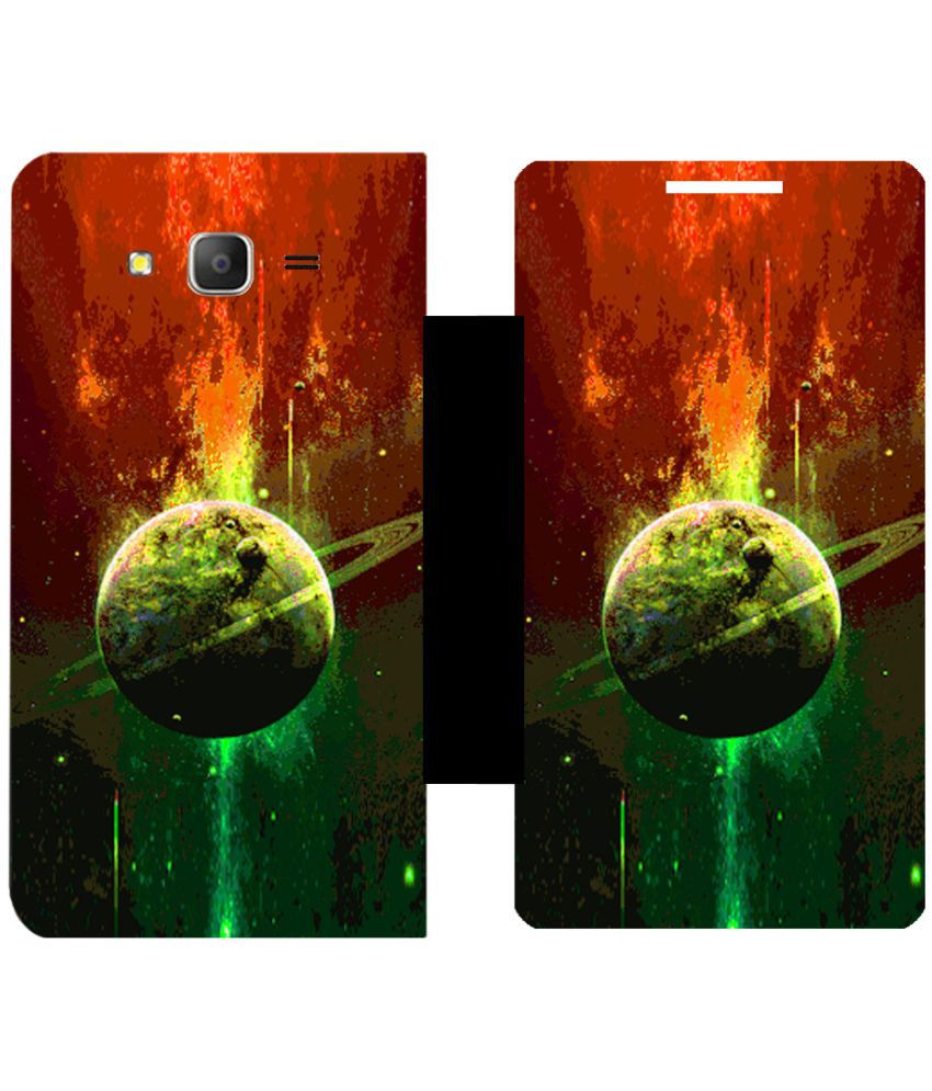 Samsung Galaxy On7 Pro Flip Cover by Skintice - Multi