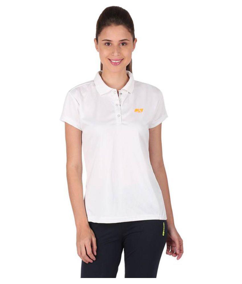 Vector X White Polo Neck T-Shirt