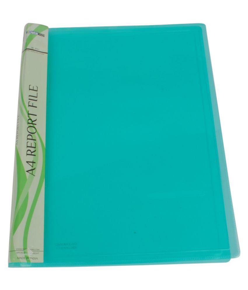 Dataking Polypropylene Green Report File (Set Of 12)