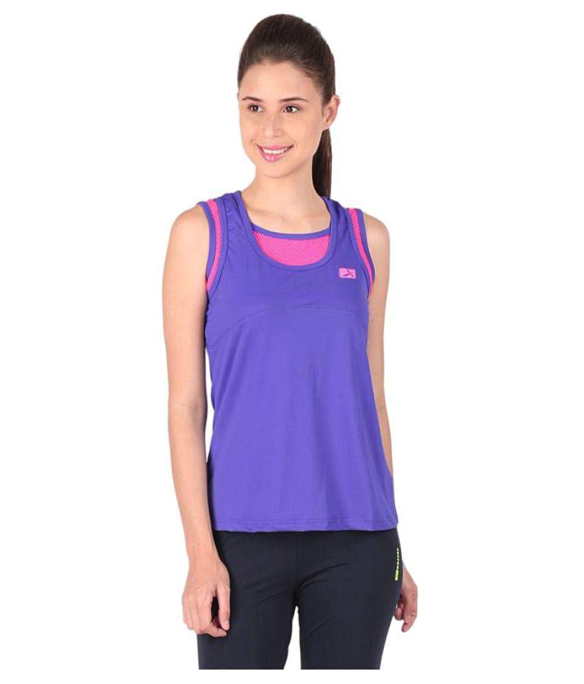 Vector X Purple Round Neck T-Shirt