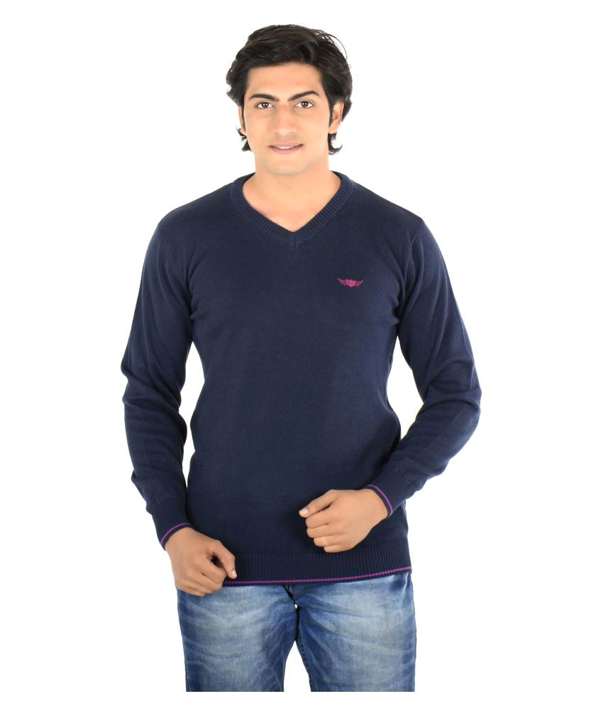 Thread Craft Navy V-Neck T-Shirt