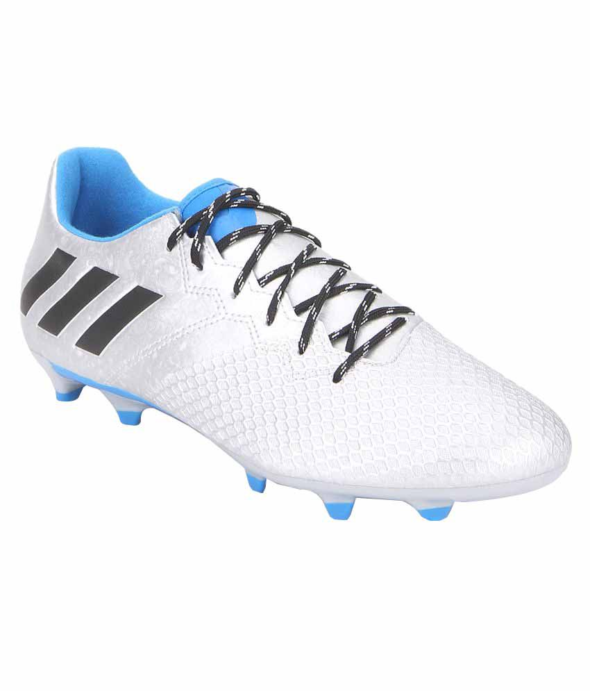 ca0bfd7c8 Adidas Messi 16.3 FG White Football Shoes - Buy Adidas Messi 16.3 FG White Football  Shoes Online at Best Prices in India on Snapdeal