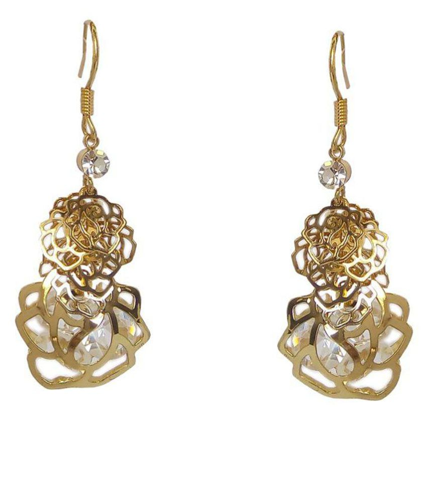 Carrydreams Swarovski Elements Inspired Hanging Earrings For Girls