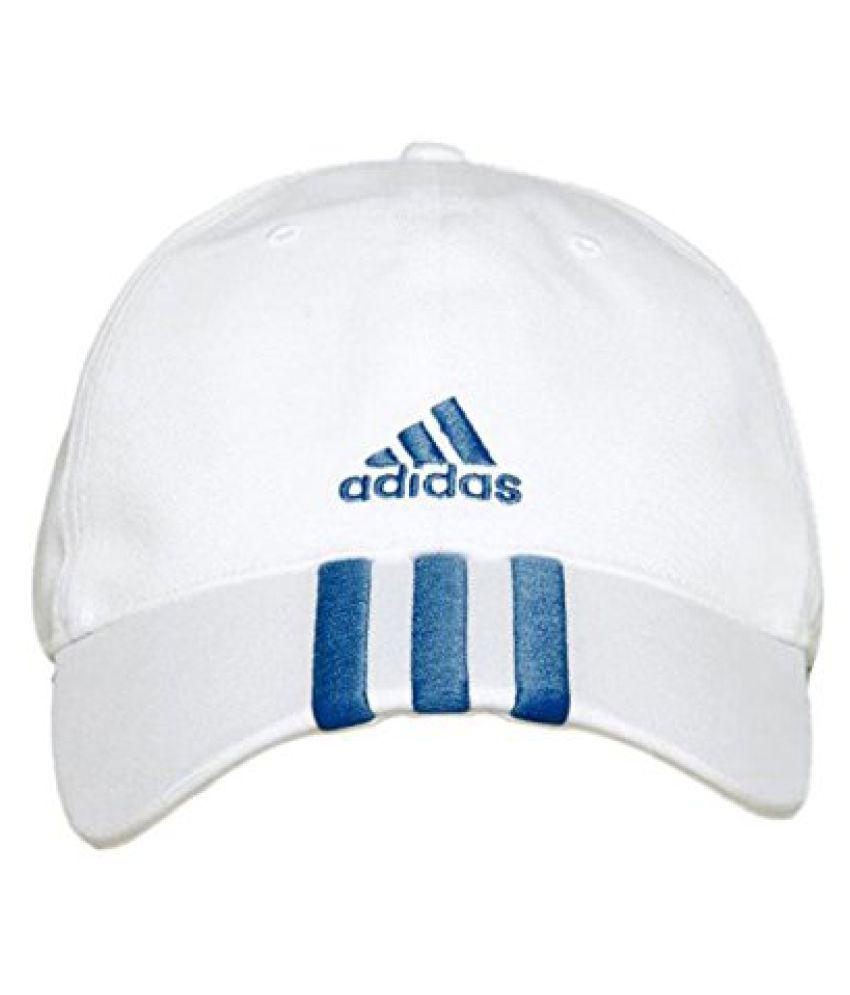 Adidas AZ7698M Cotton Cap, Men's Medium (White)