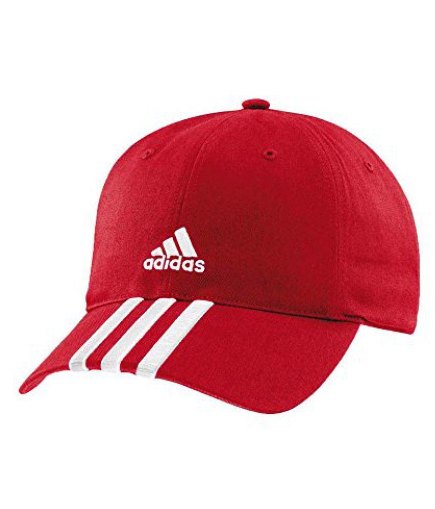 Adidas AZ7699M Cotton Cap, Men's Medium (Red)