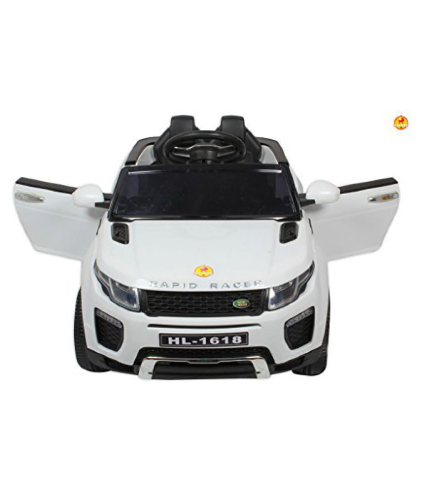 Baybee Range Rover Battery Operated Car With Dual Motor Pull Along Trolley