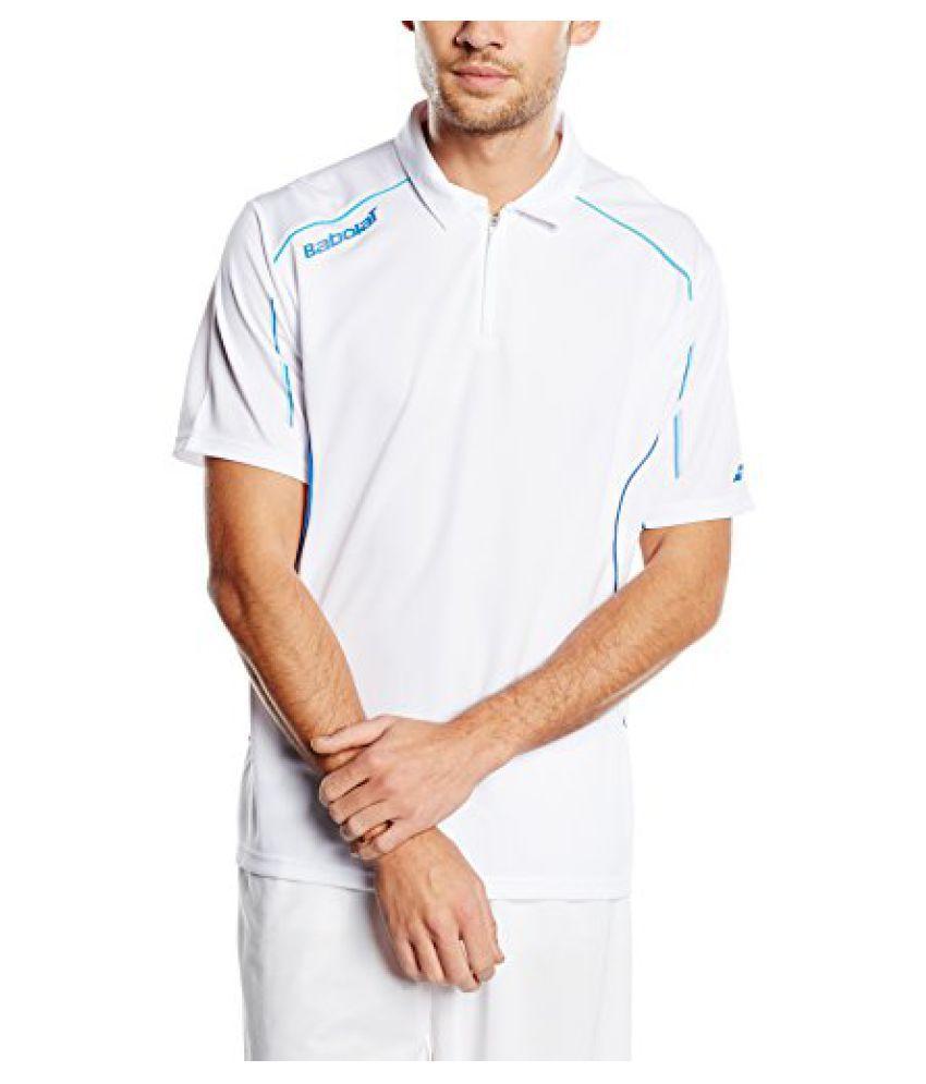 Babolat 40S1410-101 Core Match Polo, Men's Small (White)