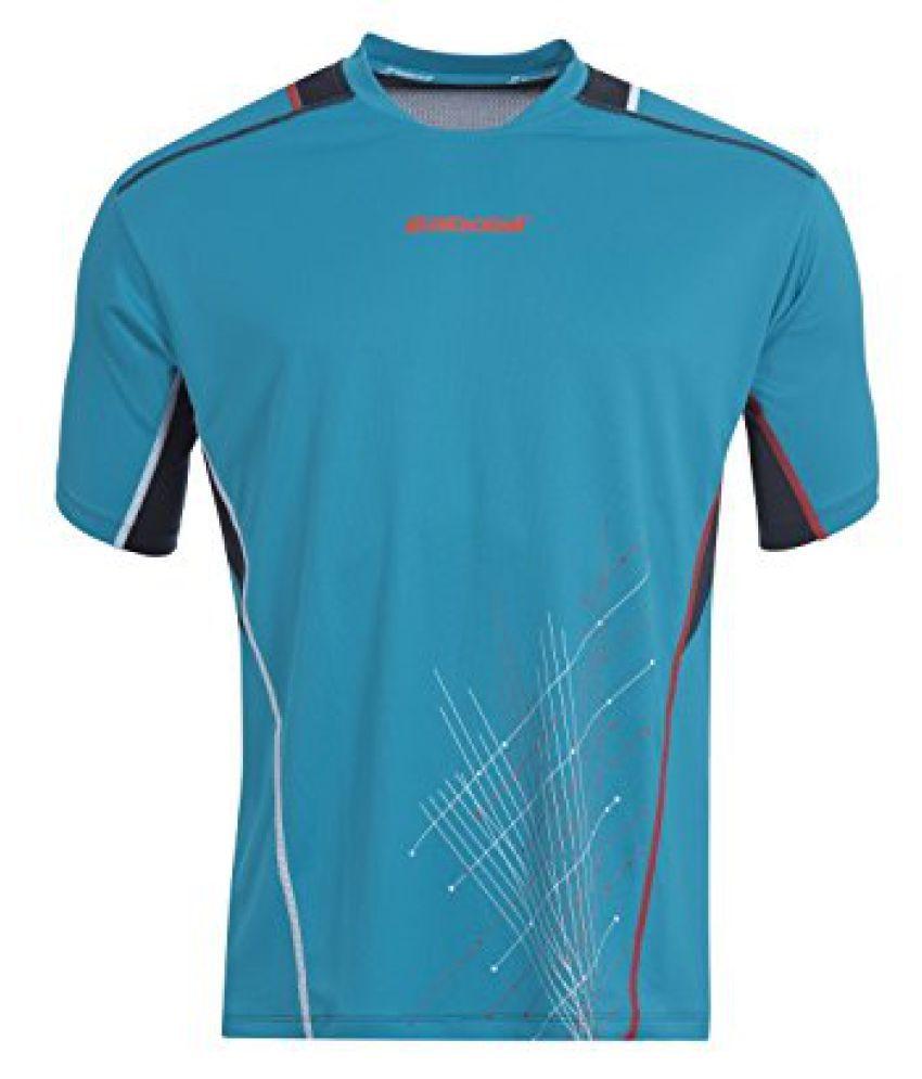 Babolat 53014-S Match Perfect Running T-Shirt, Mens Small (Blue)