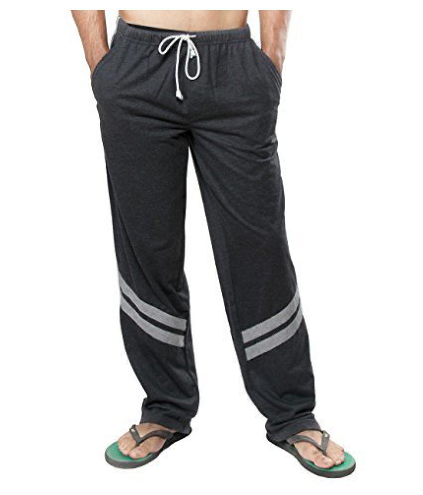 Clifton Mens Track Pants - Charcoal Melange