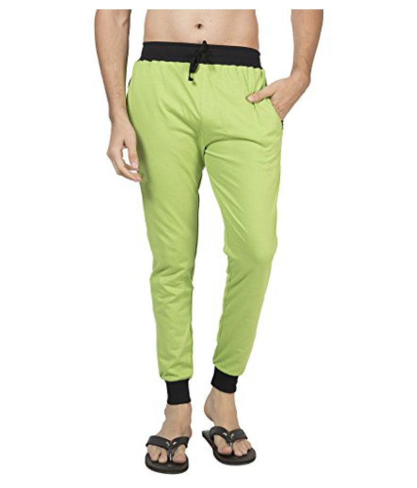 CliftonMens Ribbed Slim Fit Track Pant - Parrot Green