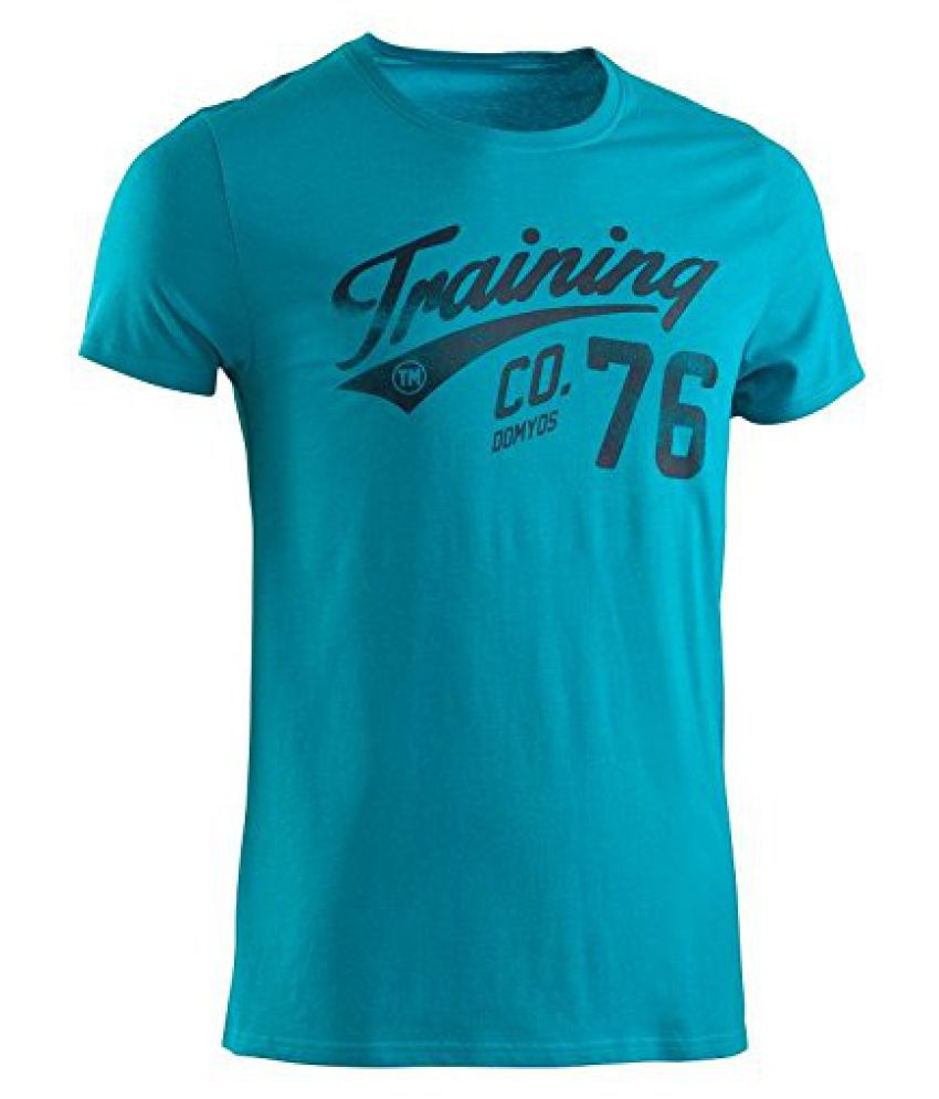 Domyos Print Tshirt Sea Blue - Size M