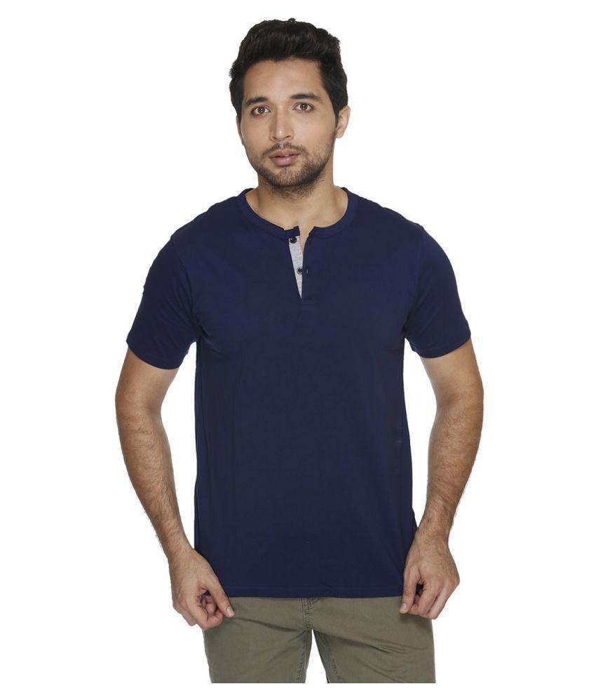 Fast n Fashion Blue Henley T-Shirt