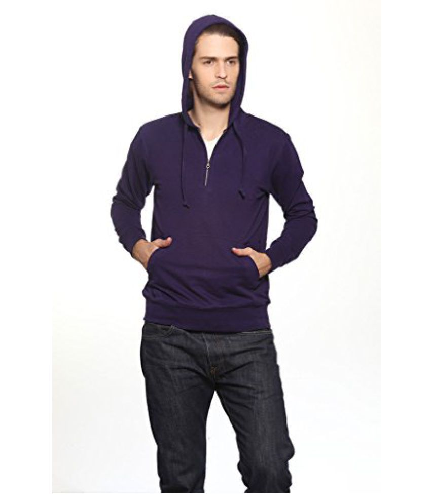 Gridstone Navy Sweatshirt with Zipper Hood-ZJKTNY60108