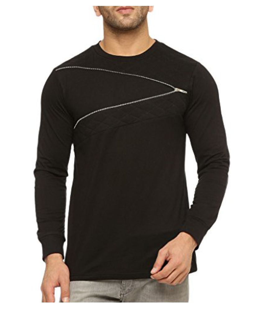 Gritstones Round Neck Full Sleeve T Shirt GSFSTSHT1311BLK