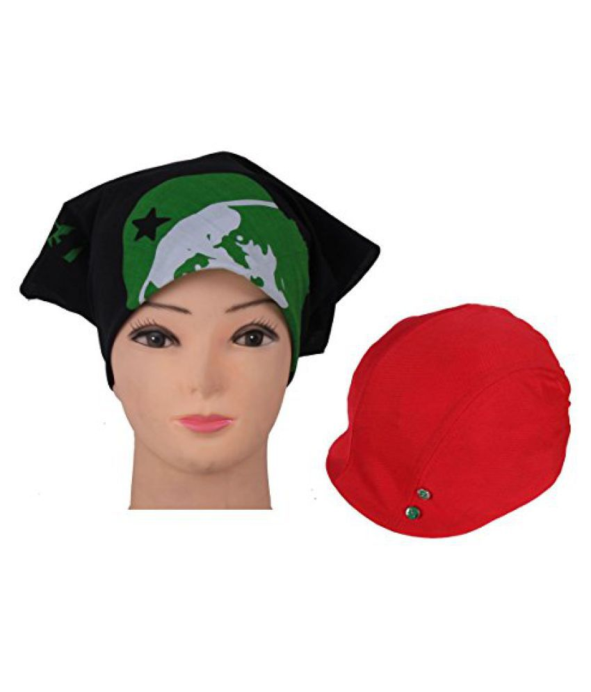 Jstarmart Headwrap With Red Golf Cap